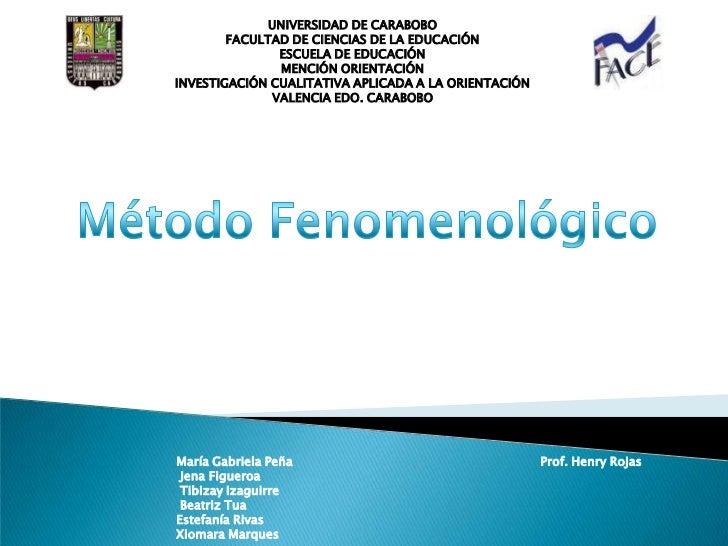 UNIVERSIDAD DE CARABOBO<br />FACULTAD DE CIENCIAS DE LA EDUCACIÓN<br />ESCUELA DE EDUCACIÓN<br />MENCIÓN ORIENTACIÓN<br />...