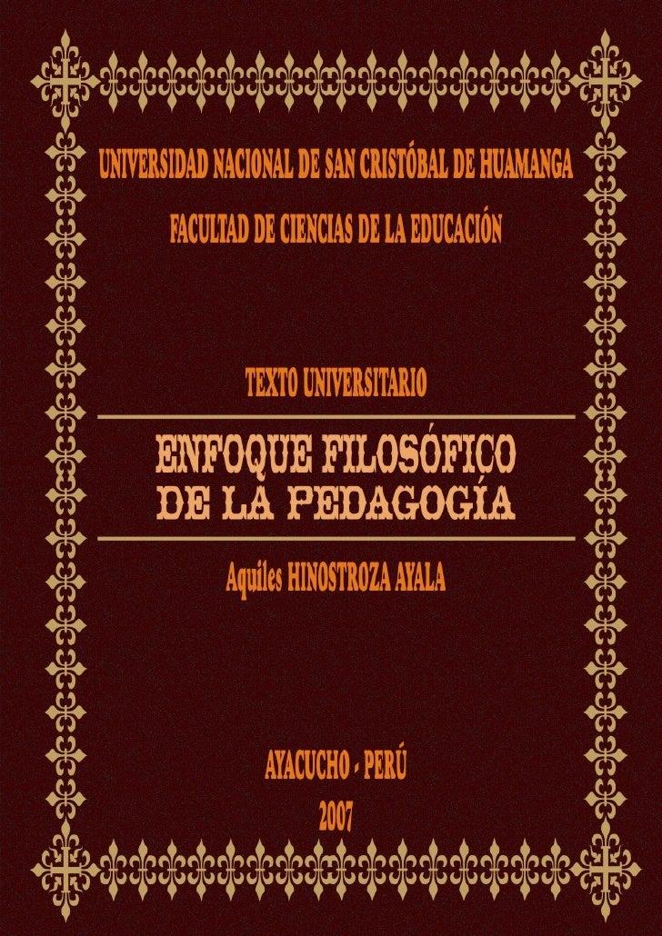 DATOS BIOGRÁFICOS DEL AUTOR                             Aquiles HINOSTROZA AYALA1. ESTUDIOS:   -  Educación Primaria y Sec...