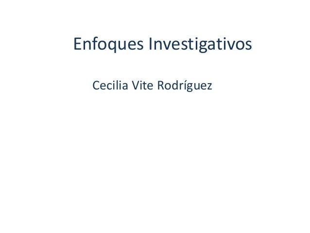 Enfoques de investigacion 3