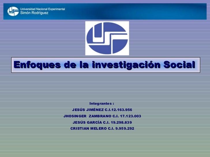 Enfoques de la investigacion social.