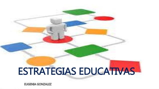ESTRATEGIAS EDUCATIVAS  EUGENIA GONZALEZ