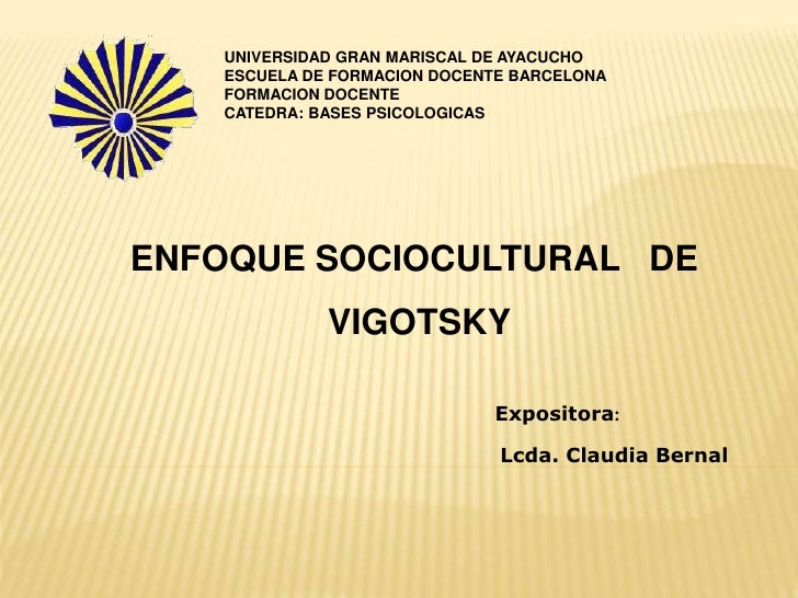 Enfoque Socio Cultural de Vigotsky