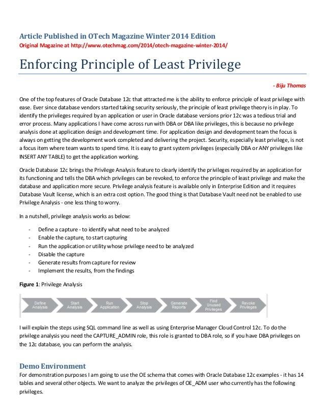 Enforcing principle of least privilege