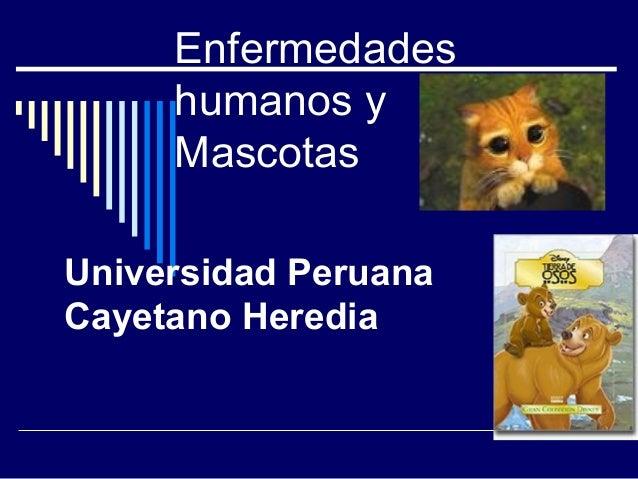 Enfermedades     humanos y     MascotasUniversidad PeruanaCayetano Heredia