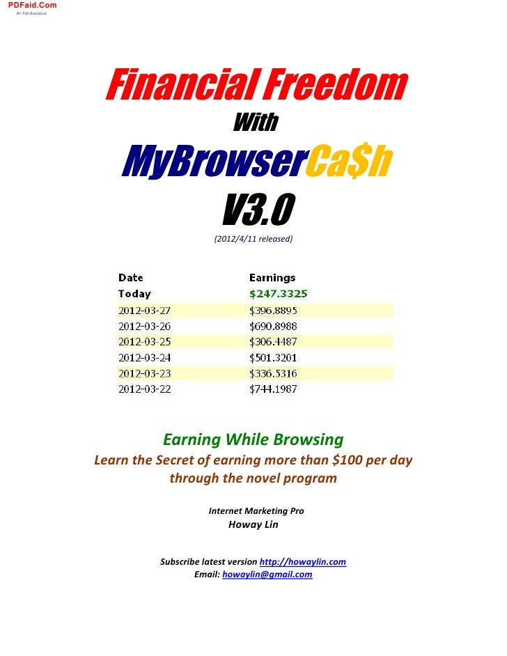 PDFaid.Com #1 Pdf Solutions                     Financial Freedom                                              With       ...
