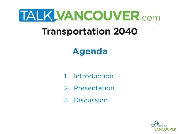 Transportation 2040 Presentation for BIAs July 11 2012