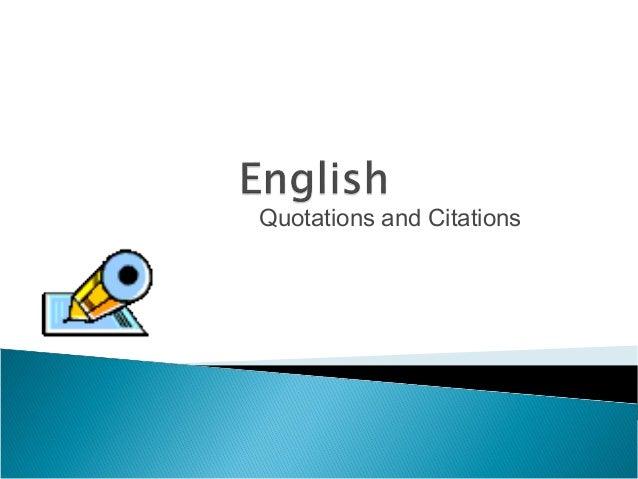 English - Citations?