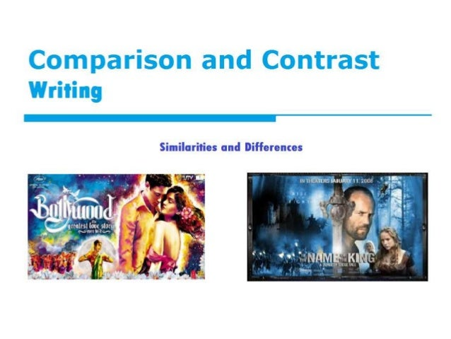 Comparison contrast essay writing powerpoint