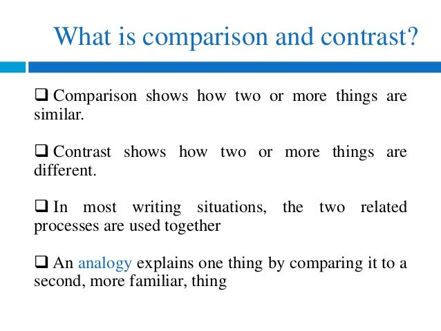 Things To Compare And Contrast For An Essay