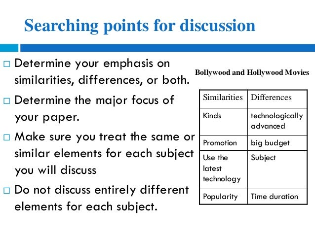 how to write a contrast essay thesis