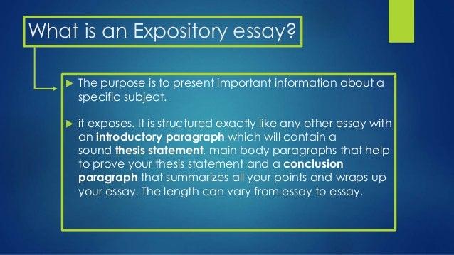 Expository essay define