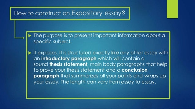 Meaning of expository essay