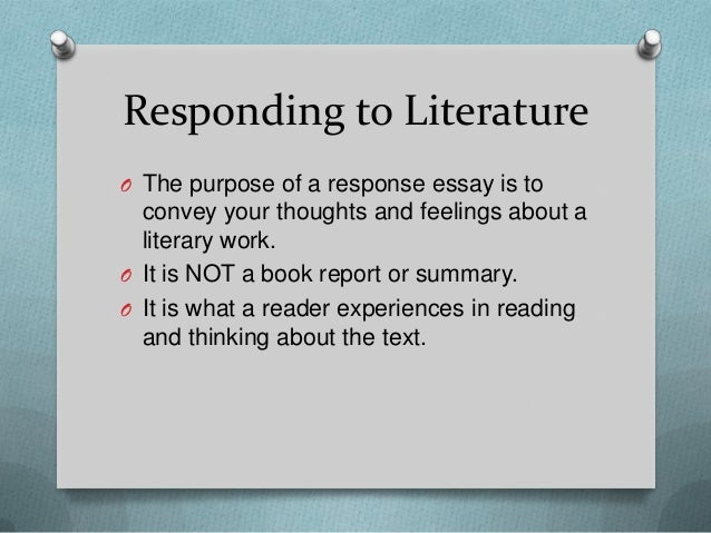 Responding To A Reading Essay Example
