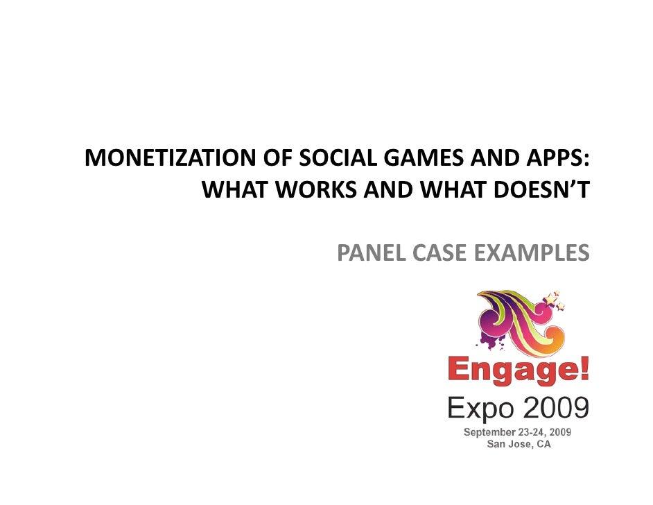 Engage 2009 Virtual Goods Panel