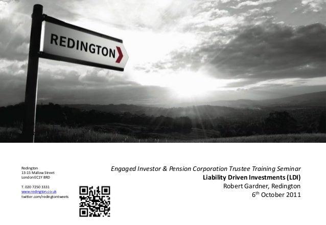 Redington13-15 Mallow StreetLondon EC1Y 8RDT. 020 7250 3331www.redington.co.uktwitter.com/redingtontweetsEngaged Investor ...