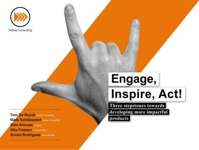Engage, Inspire, Act: three stepstones towards developing more impactful products