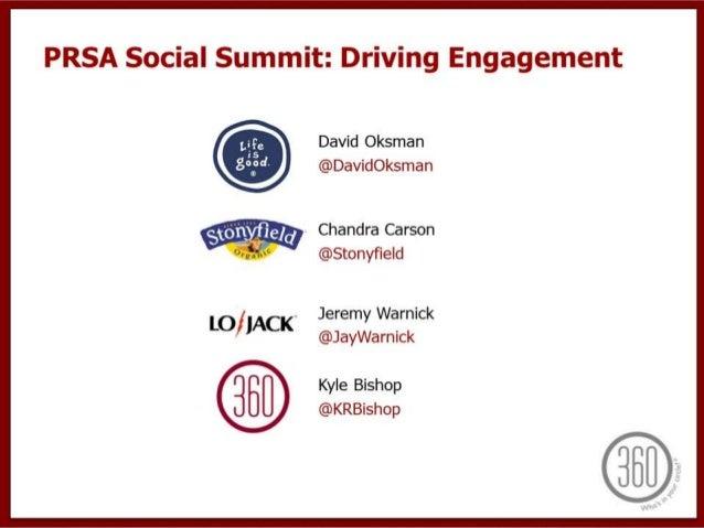 PRSA Boston 2013 Social Media Summit - Engagement