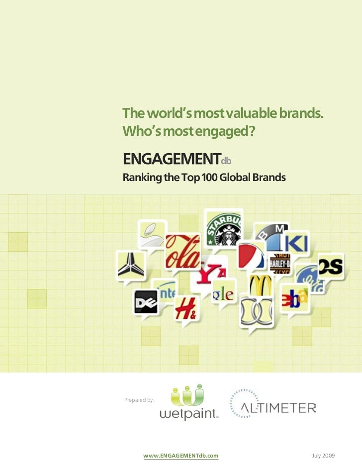 ENGAGEMENTdb: Social Media Engagement Study of the Top 100 Global Brands