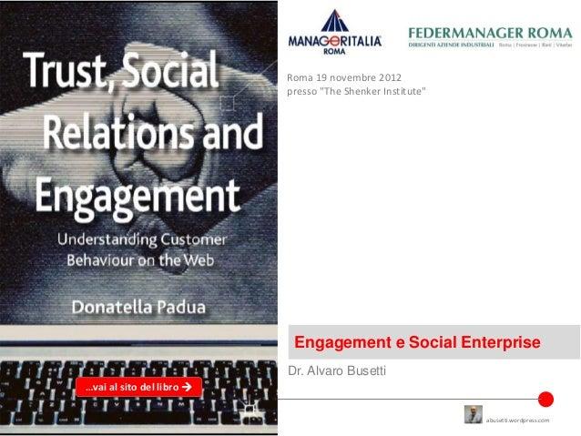 Engagement e social enterprise
