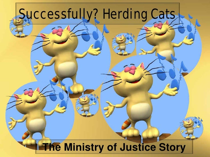 Successfully? Herding Cats   The Ministry of Justice Story