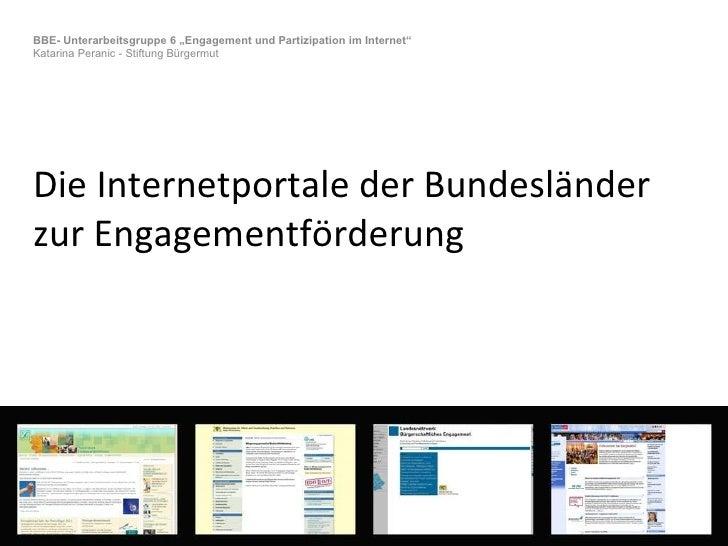 Internetportale der Bundesländer  zur Engagementförderung.