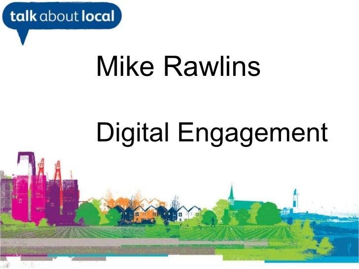 Digital Engagement Presentation Blackburn 18 march