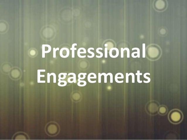 ProfessionalEngagements