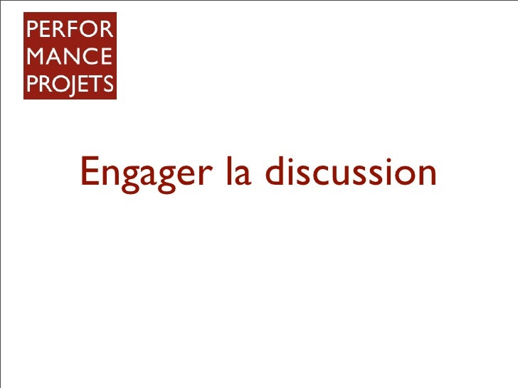 Engager la discussion