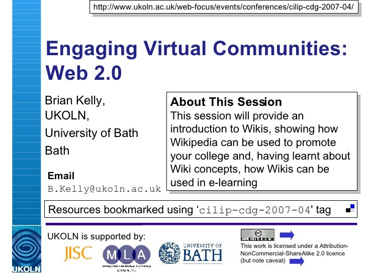 Engaging Virtual Communities: Web 2.0