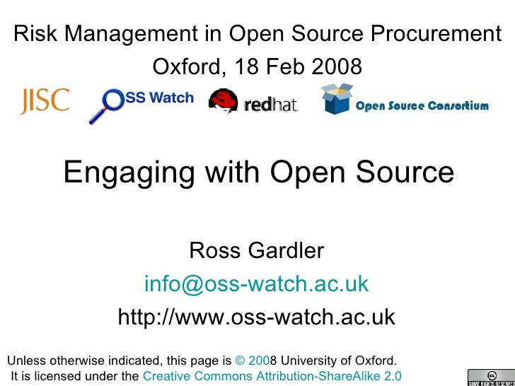 Engaging With Open Source in a procurement process