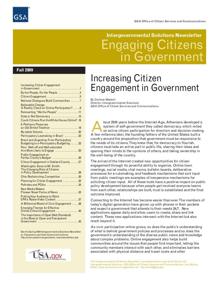 Engaging citizens in Government