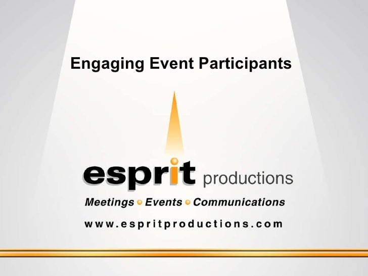 Engaging Event Participants