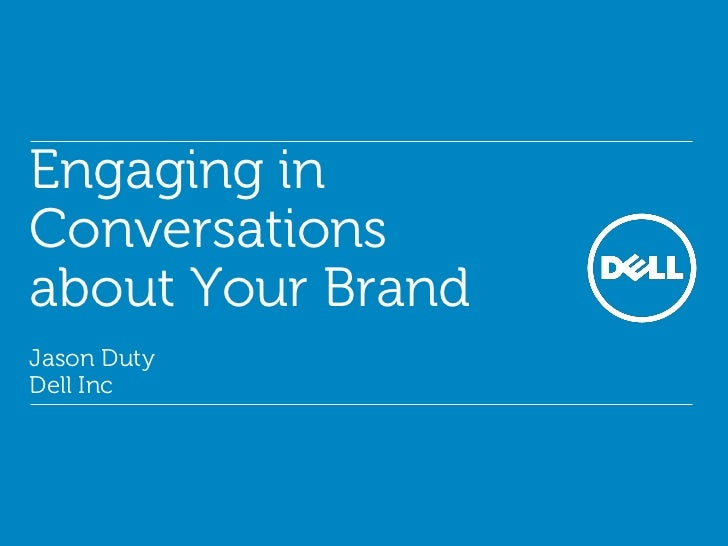 Engaging in Conversations about your Brand