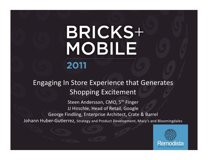 Engaging	  In	  Store	  Experience	  that	  Generates	                       Shopping	  Excitement	                       ...