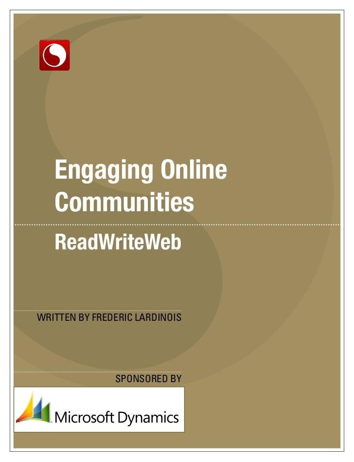 Engaging Online Communities