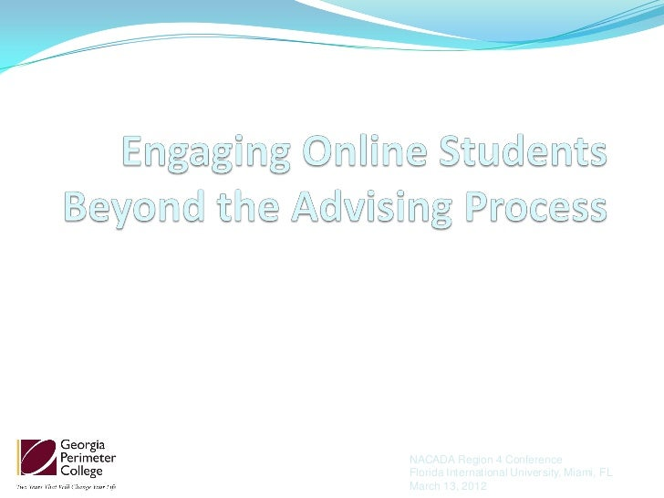 Engaging online students beyond the advising process.