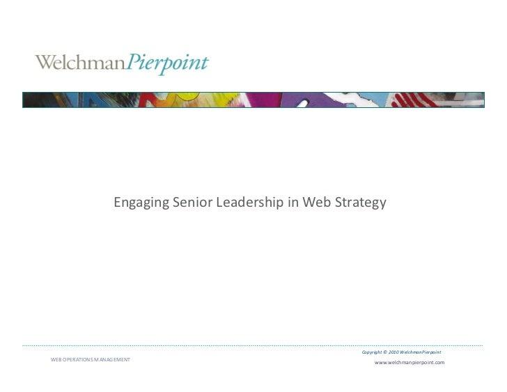 Engaging Senior Leadership in Web Strategy