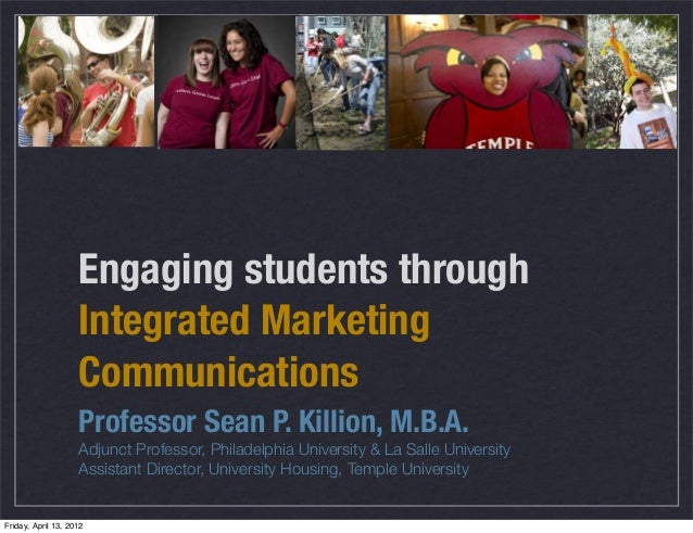Engaging students through imc acuho i bus ops