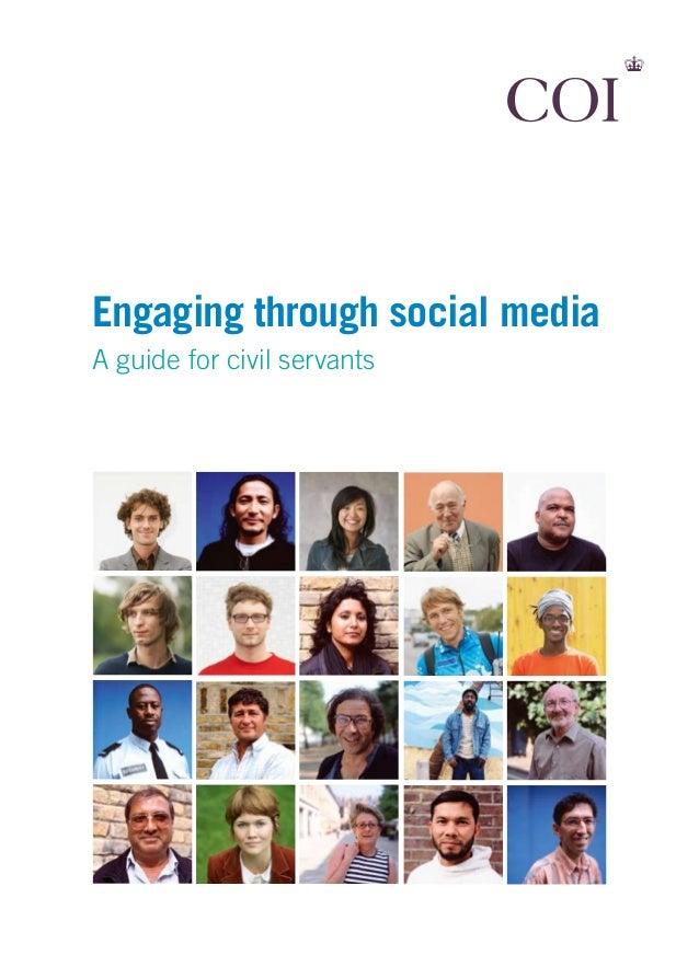 Engaging through social mediaA guide for civil servants
