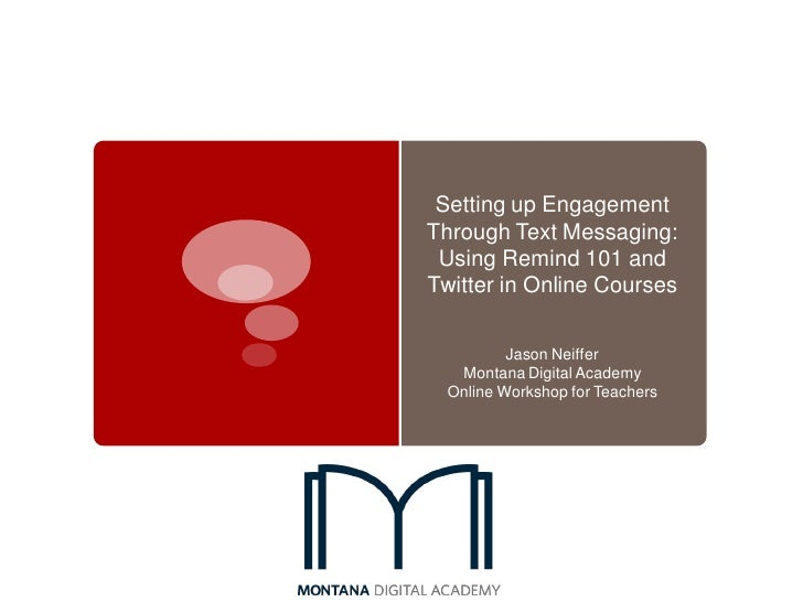 SVSLA Summer '12: Engaging Through Text Messaging