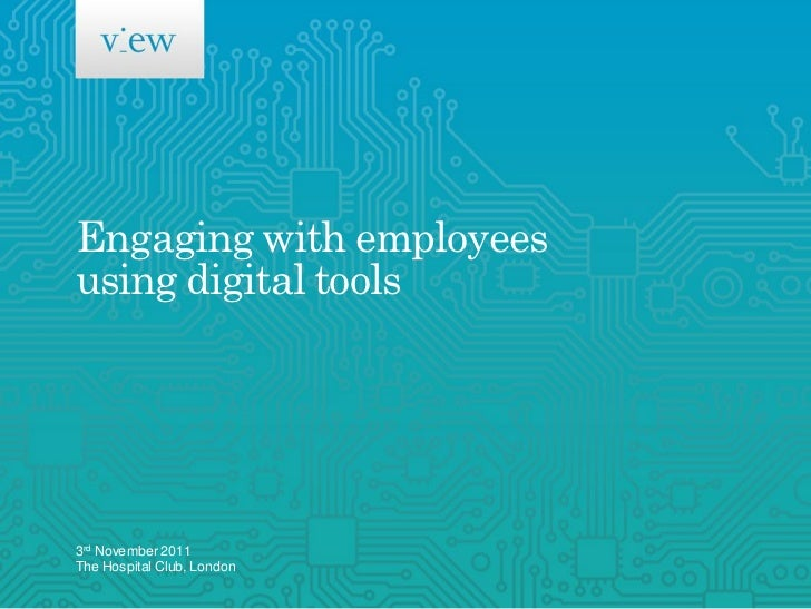 Engaging with employees using digital tools