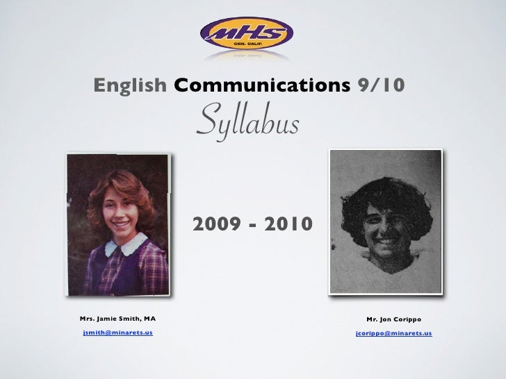 Eng Comm Syllabus