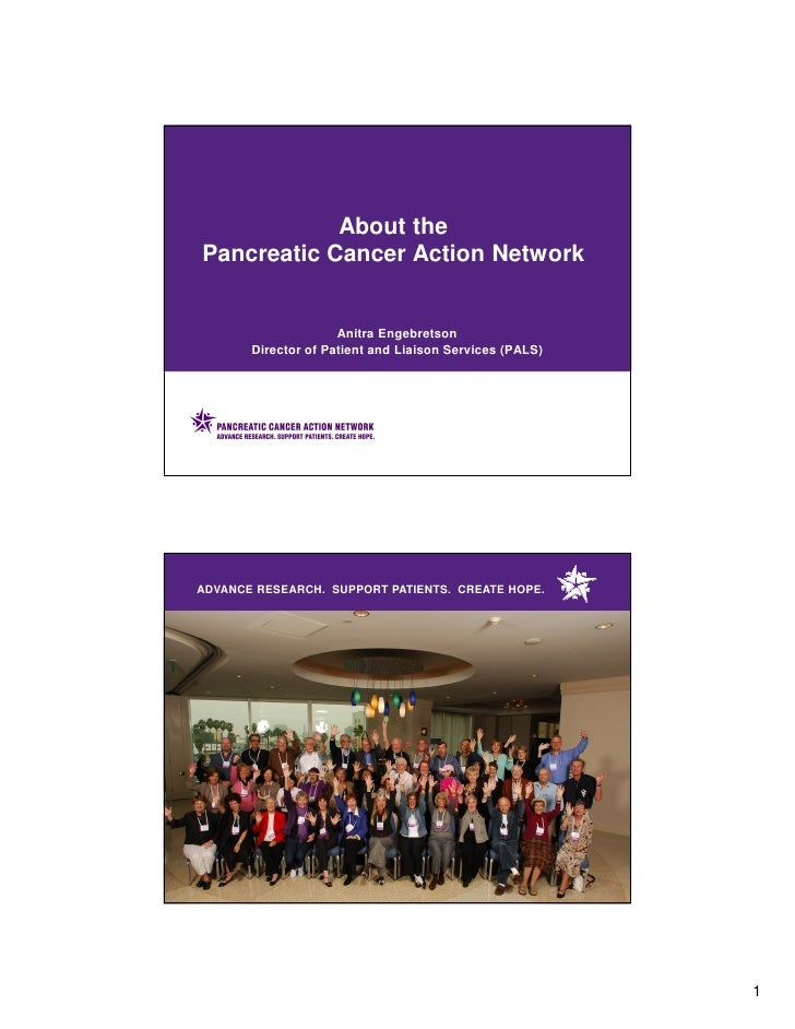 About the Pancreatic Cancer Action Network                        Anitra Engebretson        Director of Patient and Liaiso...