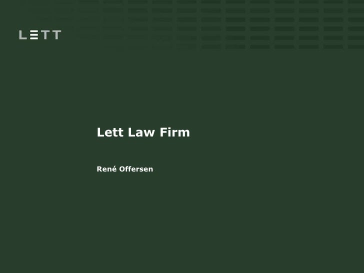 Lett Law Firm René Offersen