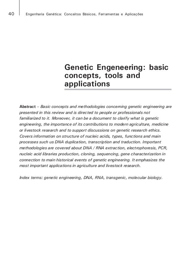 genetic engineering concepts and applications News about genetic engineering commentary and archival information about genetic engineering from the new york times.