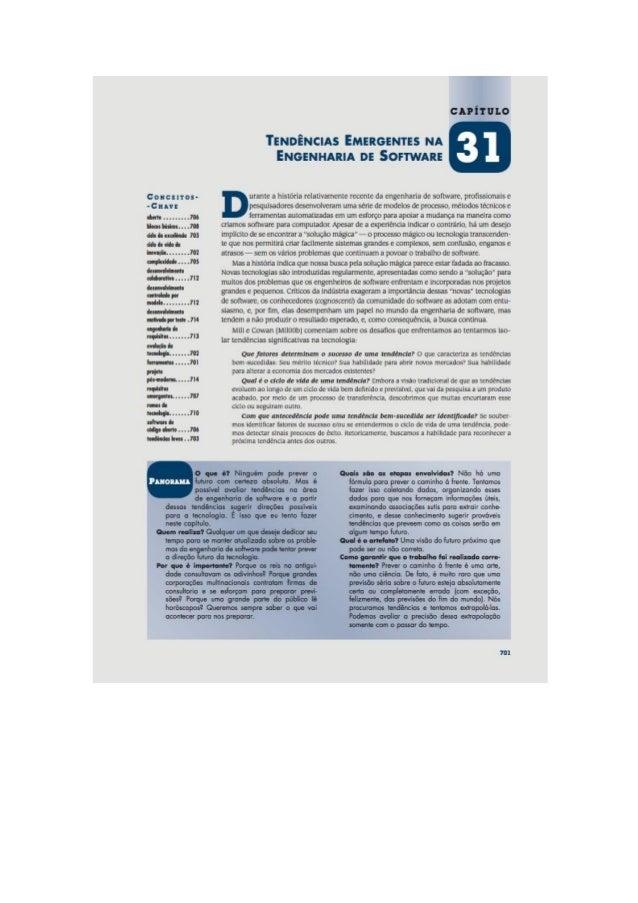 Engenharia de software 7° edição roger s.pressman capítulo 31