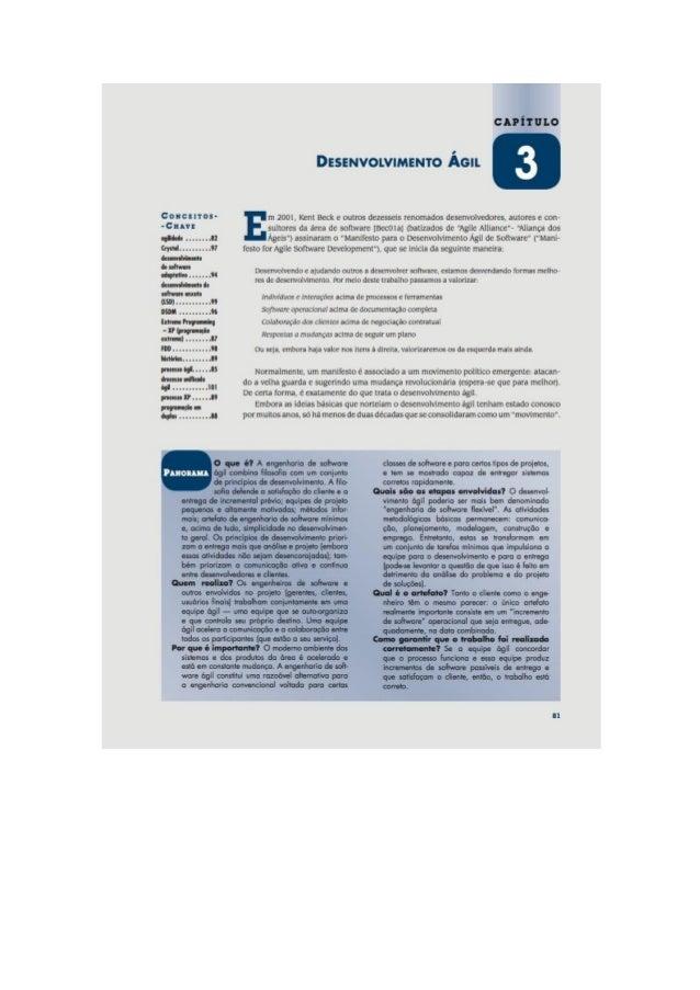 Engenharia de software 7° edição roger s.pressman capítulo 3