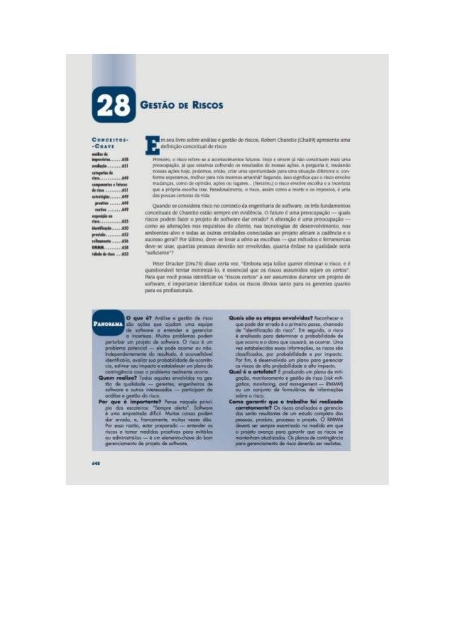 Engenharia de software 7° edição roger s.pressman capítulo 28