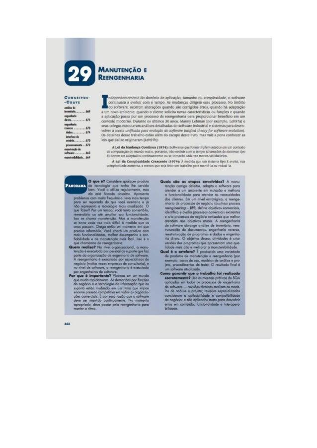 Engenharia de software 7° edição roger s.pressman capítulo 29