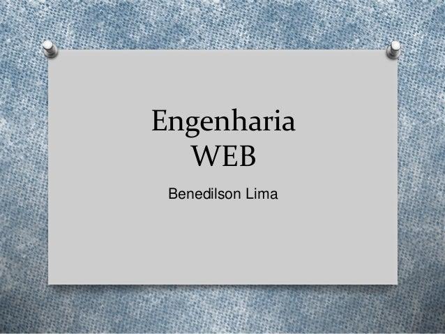 Engenharia web   seminário